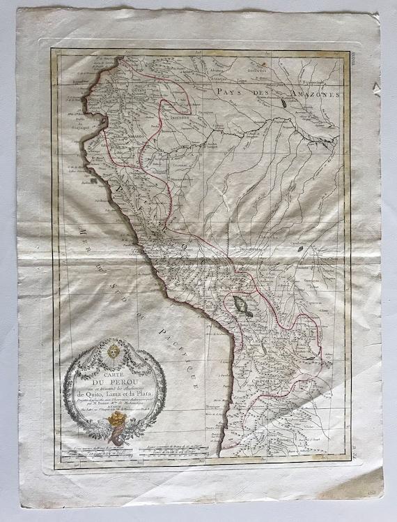 Phenomenal 1771 Map of Peru in French