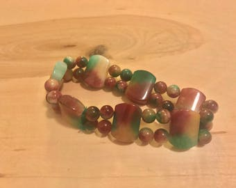 Colorful stone beaded bracelet!