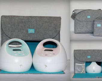 XS Alana style Spectra Breast Pump Bag in PP Jackson Lt Gray