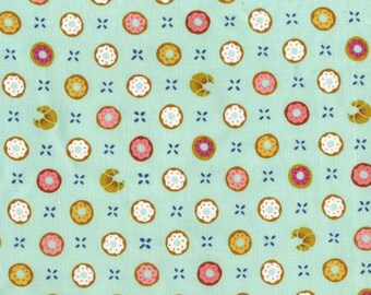 NEW Michael Miller Bake Shop Pistachio Tic Tac Donuts fabric - 1 yard