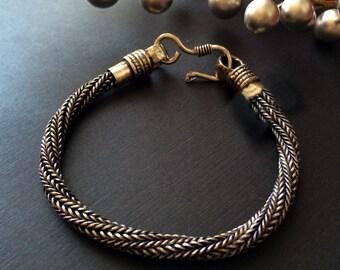 Twisted Silver rope chain bracelet,AS Seen in COSMOPOLITAN UK,Magazine Oct 2014  Men Silver bracelet,silver bracelet Handmade Chain Taneesi