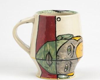 Coffee Mug, 12 oz, handthrown ceramic mug, handmade pottery mug, unique coffee mug, ceramic handmade mug, coffee mug pottery, pottery mug