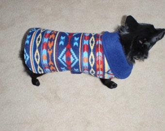 Southwestern Fleece Dog Coat