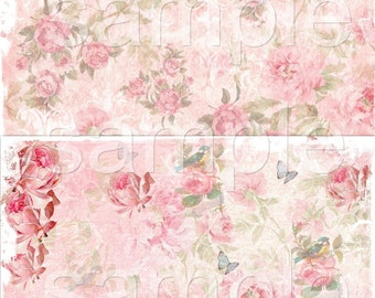 INSTANT DOWNLOAD - Pretty Ones Paper Set - Original Design  - Printable Digital Collage Sheets - Digital Download