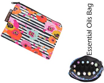 Essential Oil Bag - Essential Oil Pouch - Oil Bags - Essential Oil Holder - Fast Shipping/Waterproof lining fabric - Fabric