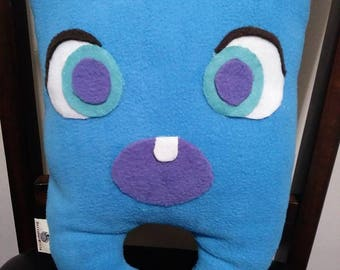 Monster Pillow: Blue