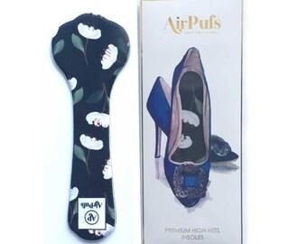 Peonies Dark Airpufs High Heel Insoles