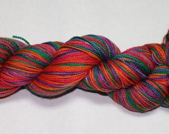 Ready to Ship - Sanderson Sisters Self Striping Hand Dyed Sock Yarn - Tough Sock