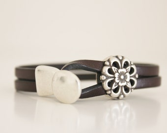 FLOWER bracelet, BRACELET for WOMEN, Mothers Day gift,  silver bracelet, cheap jewelry for her, women gift, charm Bracelet, gift idea