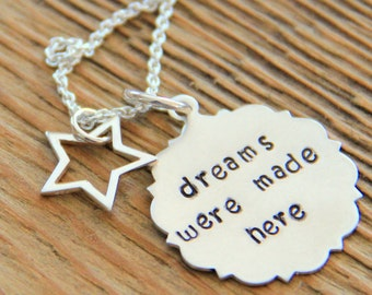 Sterling Star Necklace,  Dream Necklace, Graduation, Drama Actress Star Pendant,North Star Shining, Birthday, Gift For Best Friend NEcklace,