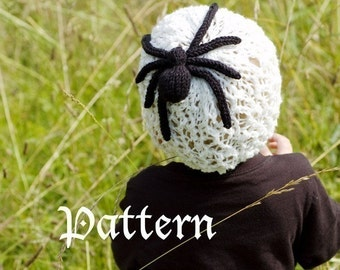 make your own Charlotte's Web Hat (DIGITAL KNITTING PATTERN) baby toddler child adult