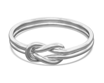 Sterling Silver Celtic Knot Ring - Promise Ring for Her - Celtic Ring Gift for Her - Infinity Ring - Eternity Ring
