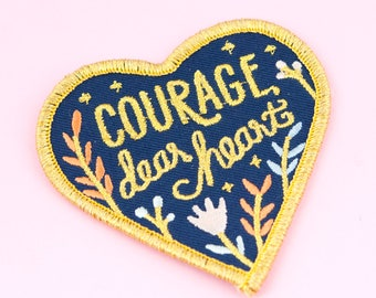 Courage Embroidered Patch | Patches for Jackets and Backpacks, Narnia Patch