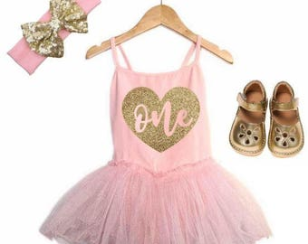 CUSTOM AGE First Birthday Outfit Girl 1st Birthday Girl Outfit Pink and Gold Birthday Outfit 1st Birthday Outfit Girl Pink Tutu Cake Smash