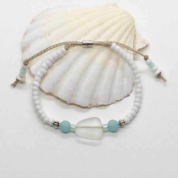 sea glass jewelry, beachcomber beach bracelet, gift for her