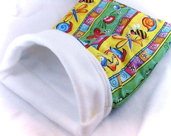 Silly Bug Stripes Little Critter Plush Snuggle Sleep Sack Bed for Your Favorite Little Pet