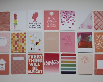 Studio Calico | Project Life Cards | Pink & Peach
