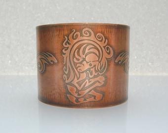 Handmade Horse Bracelet Equestrian Jewelry Copper Jewelry