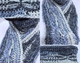 Crochet Bow Stitch Spring Scarf