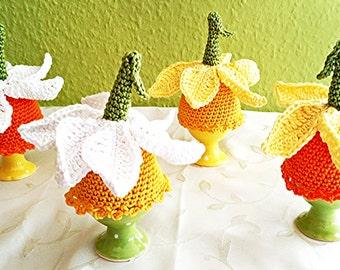 "PDF: Egg Cozy ""Daffodil"" Crochet Pattern"