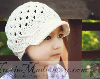 Choose Your Color Hat 2T-4T, Custom Color Hat, Childrens Hat, Hat for Girls, Winter Hat, Newsboy Hat, Custom Hat, Crochet Girl Hat