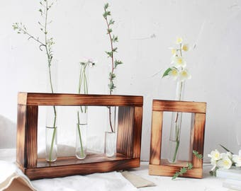 Bud Vase, Test Tube Stand, Test Tube Rack, Test Tube Holder, Plant Stand, Wood Flower Stand, Plant Vase, Minimalist Stand, Mothers Day Gift