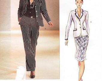 Sz 12/14/16 - Vogue Separates Pattern 2631 - Misses' Jacket, Blouse, Skirt and Pants - Vogue Couture Pattern