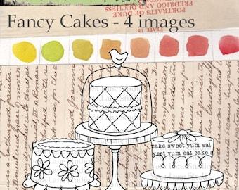 Fancy Cakes digi stamps,