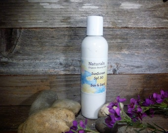 Chemical Free Water Resistant Creamy Sunscreen SPF 30 Pick Your Scent 2,4 & 8oz