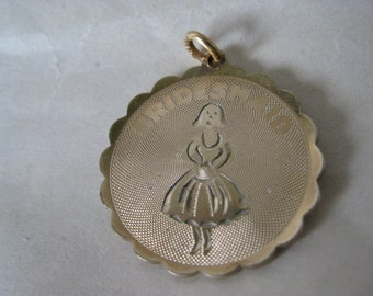 Bridesmaid Gold Charm Vintage