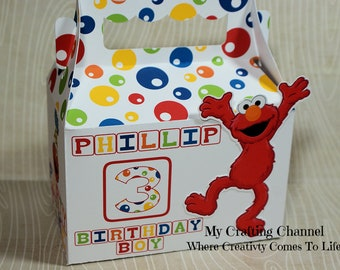 LG Sesame Street Elmo #2 Boy or Girl Birthday Treat Box Sets,Sesame Street,Elmo, Birthday Treat Boxes,Favor Boxes