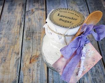 Lavender Sugar ~ Culinary Organic Lavender ~ Edible Lavender Sugar ~ Flavored Sugar ~ Rimming Sugar ~ Chef Gift