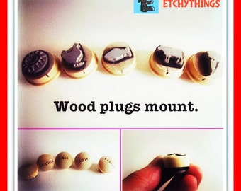 Wedding Menu Stamps Wood Plug Mounted Select your number in drop down menu