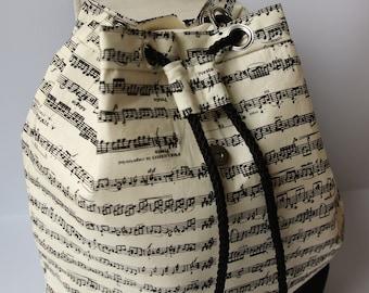 Bucket Backpack Music / Mochila bombonera música