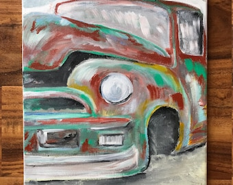 abstract vintage truck