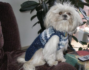 CUDDLES and WAGS - dog sweater -camoflauge colors avail - 2 to 22 pounds- Made to order