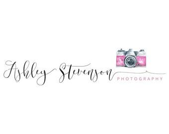 Photography logo, premade logo design, watercolor logo, photographer watermark n044