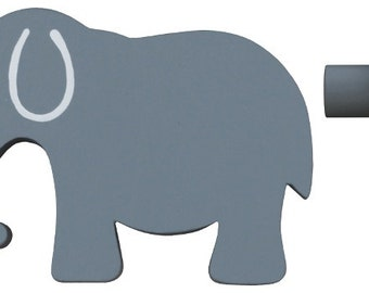 Elephant Drawer Knob - Grey (Gray) Elephant Drawer Pull