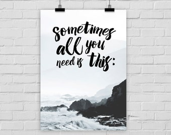 fine-art print poster ALL YOU NEED