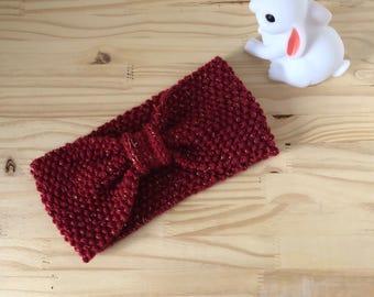 Red headband deep bow
