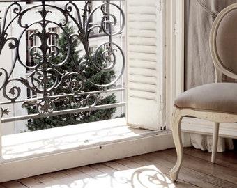 "Paris Photography, ""Paris Apartment"" Paris Print, Large Art Print Fine Art Photography, Affordable Wall Art for Living Room, Gift for Her"