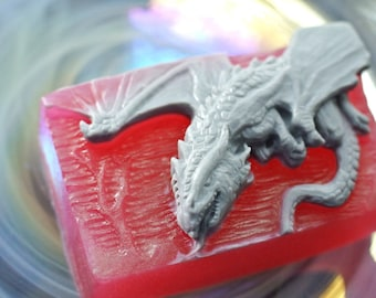 DRAGON SOAP MOLD silicone mould bar game of thrones mica resin monster chocolate candy
