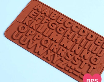 Alphabet Candy Mold, Silicone Chocolate Mold, Mini Letters Mold, Silicone Candy Moulds, Chocolate Candy Molds, Silicone Alphabet Mold, Mould