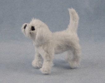 Maltese Soft Sculpture Miniature Dog by Marie W. Evans