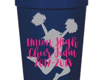 Cheer Team- 16 oz. Reusable Plastic Stadium Cup- Minimum Purchase of 12 Cups!