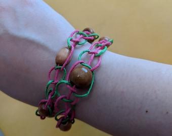 Macrame Hemp Multipurpose Necklace/Bracelet