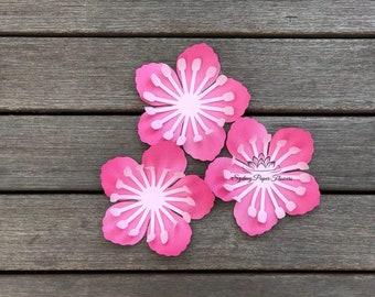CHERRY BLOSSOM Paper Flower Template & Tutorial/svg pdf CriCut Silhouette Cameo DIY paper flower pattern/Paper flower centre download