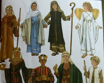Simplicity 4797 Childs Nativity Shepherd, Angel, King Sewing Pattern New/Uncut Size Sm, Med, Lg