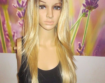 Ombre dark roots To 613 blonde Lace Front wig heat resistant Wig 20'' layers