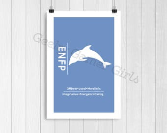 ENFP Minimalist Poster   Myers Briggs Poster   Personality Type Poster 11x17   MBTI